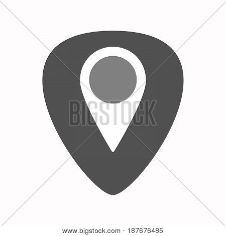 Isolated Guitar Plectrum With A Map Mark