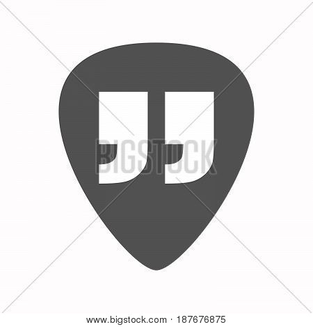 Isolated Guitar Plectrum With  Quotes