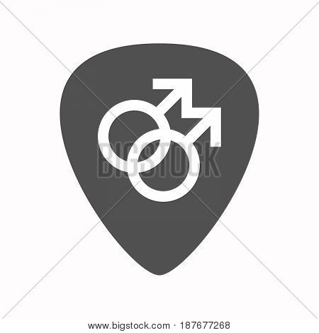 Isolated Guitar Plectrum With A Gay Sign