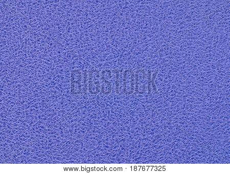 Background Pattern Horizontal Texture of Blue Plastic Doormat.