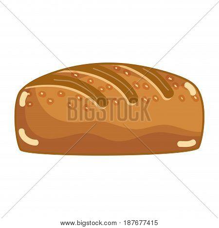 delicious fresh bakery bread food, vector illustration