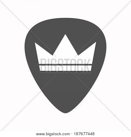 Isolated Guitar Plectrum With A Crown