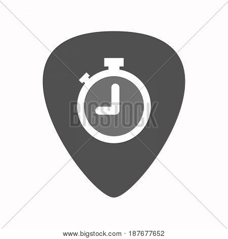 Isolated Guitar Plectrum With A Timer