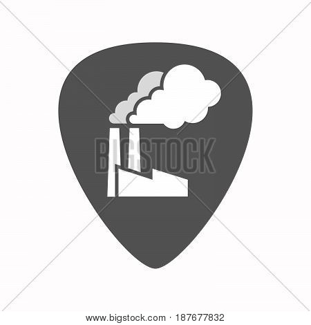 Isolated Guitar Plectrum With A Factory