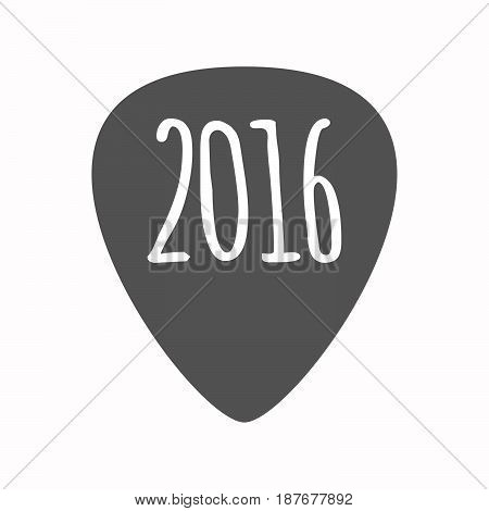 Isolated Guitar Plectrum With A 2016 Sign