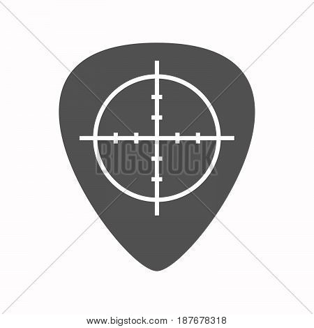 Isolated Guitar Plectrum With A Crosshair