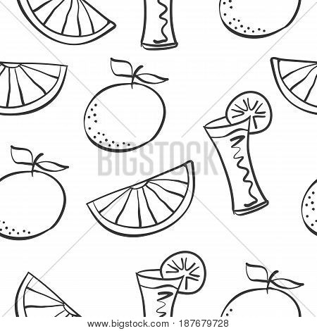 Vector art drink theme doodles collection stock