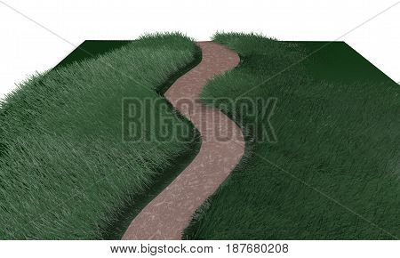 Make Your Own Path Concept, 3D Render