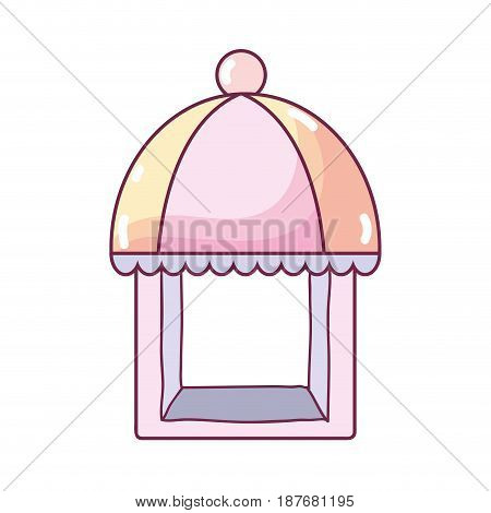 colorful nice bakery store over white background, vector illustration