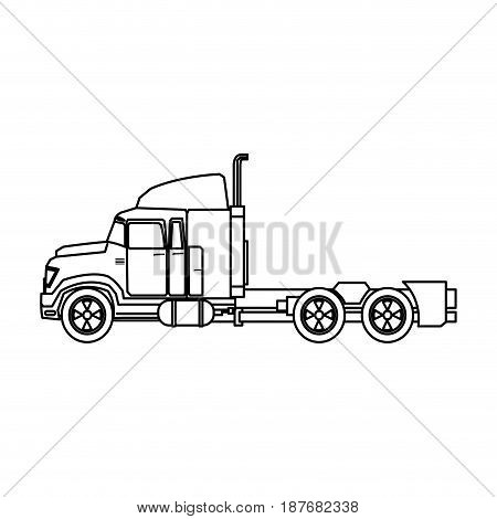 truck cabin transport industry trailer vehicle vector illustration