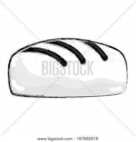 figure delicious fresh bakery bread food, vector illustration