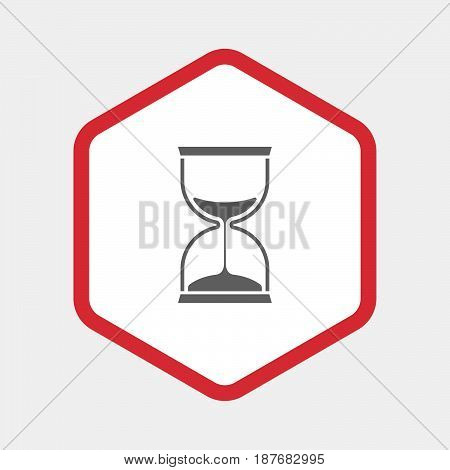 Isolated Hexagon With A Sand Clock