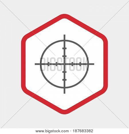 Isolated Hexagon With A Crosshair