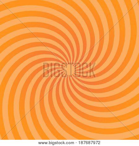 Sunburst pattern. Abstract radial bright sun burst background. Orange center sunlight gradient design. Graphic illustration sunbeam