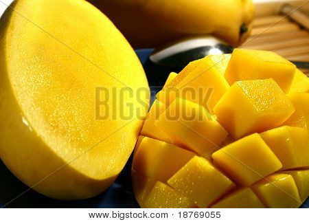 close up of sweet tropical mango from the philippines