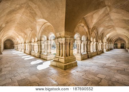 Abbey Of Fontenay Unesco World Heritage Site, Burgundy, France
