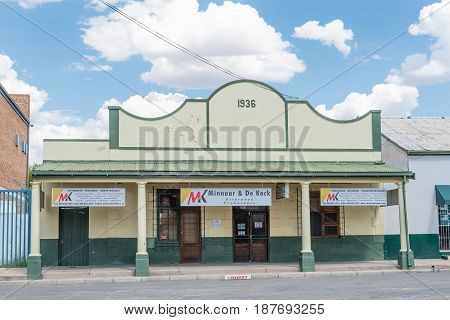 MIDDELBURG SOUTH AFRICA - MARCH 21 2017: Offices of an attorney in an historic old building in Middelburg a town in the Eastern Cape Province