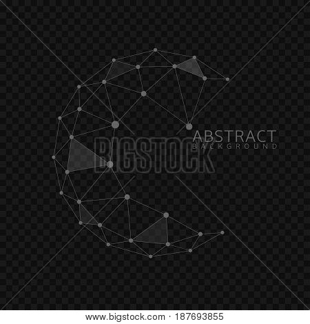 Abstract globe shape. Connection concept, abstract earth sphere