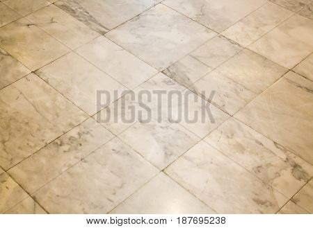 Old Tiled Marble Floor Background stock photo