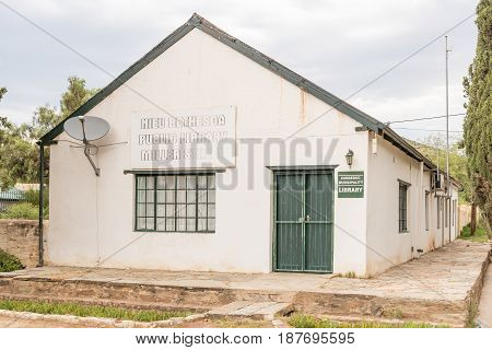 NIEU BETHESDA SOUTH AFRICA - MARCH 21 2017: The public library in Nieu-Bethesda an historic village in the Eastern Cape Province