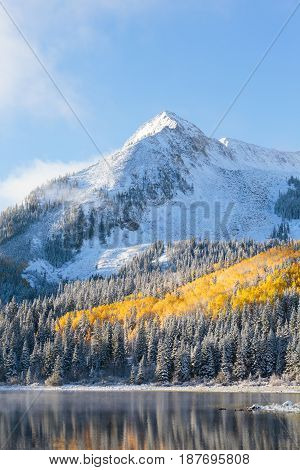 Autumn Scenery in the Rocky Mountains of Colorado