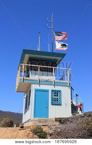 Lifeguard Tower In California