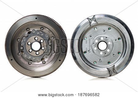 Dual-Mass Flywheel front and back view on white background