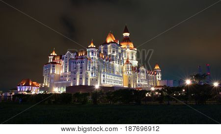 SOCHI RUSSIA - May 18 2017. The amazing prospect of the hotel building