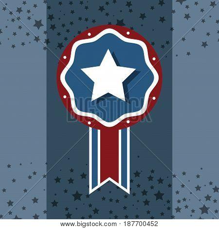 independence day emblem celebrate national tradition, vector illustration