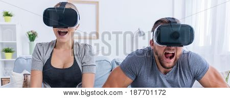 Couple Watching Movie With 3D Glasses