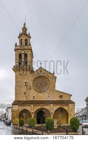 San Lorenzo church in Cordoba Spain. It was built between around 1244 and 1300 in a transitional style between Romanesque and Gothic architecture.