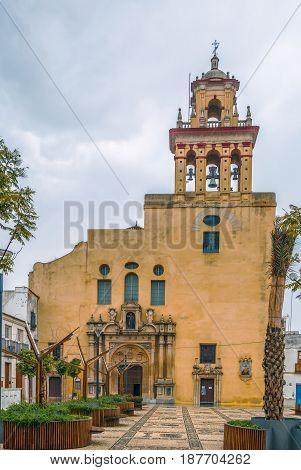 San Agustin church Cordoba Spain.The current aspect of the church is the first third of the seventeenth century.