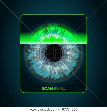 Retina scanning - digital security system access