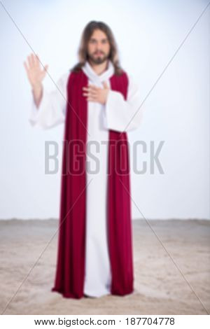 Christ With Hand On Chest