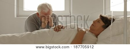 Man Crying In Hospital