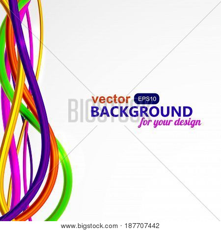Bright vertical wire abstraction on white background. EPS10