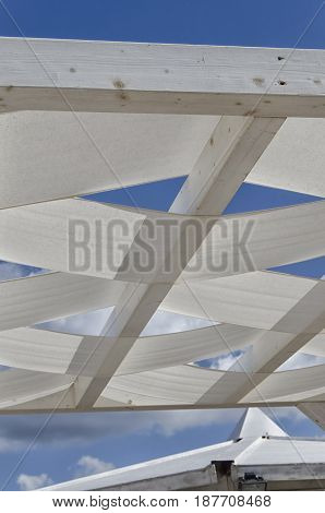 Interlacing fabric used as an outdoor venue