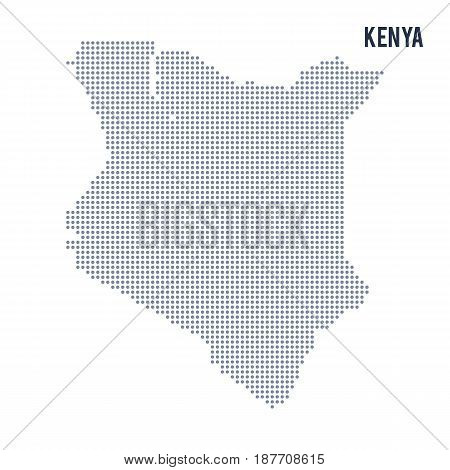 Vector Dotted Map Of Kenya Isolated On White Background .