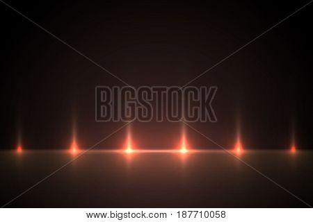 Light red effect background for design. Light illustration backlit scenes.