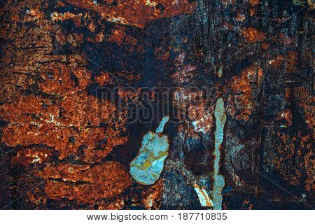 Rusty grunge texture weathered corroded metal surface as background