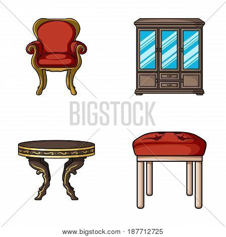 Furniture, interior, design, chair .Furniture and home interiorset collection icons in cartoon style vector symbol stock illustration .