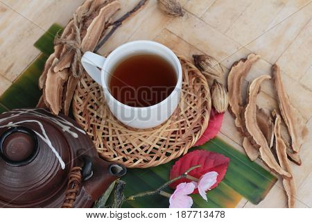 Lingzhi mushroom tea - Ganoderma lucidum for health
