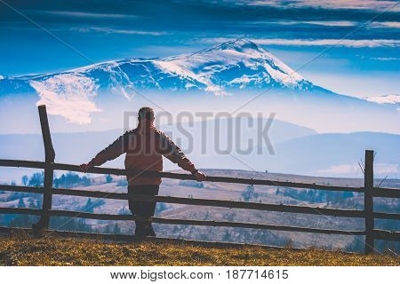 Enjoy The Carpathian Mountain Valley. Instagram Stylisation
