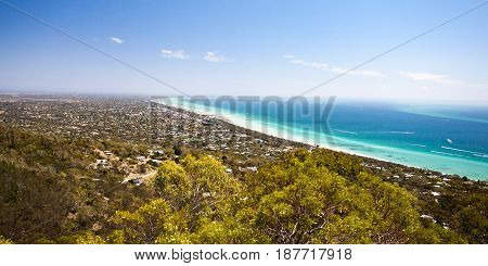 Murray's Lookout on Arthurs Seat Tourist Rd looking over Mornington Peninsula, Victoria, Australia
