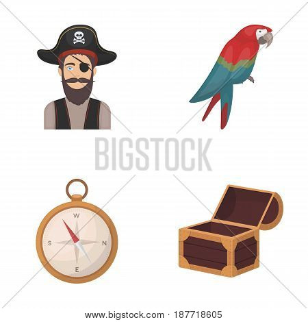 Pirate, bandit, hat, bandage .Pirates set collection icons in cartoon style vector symbol stock illustration .