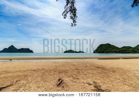 Ao Manao Beach in Prachuap Khiri Khan Province of ThailandBeaches and tropical sea