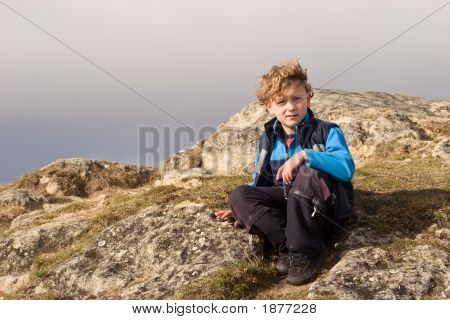 Boy On Ancient Seabed