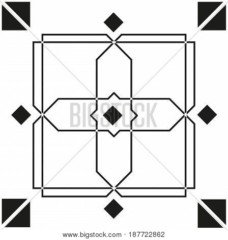 Seamless geometric pattern for your design with squares