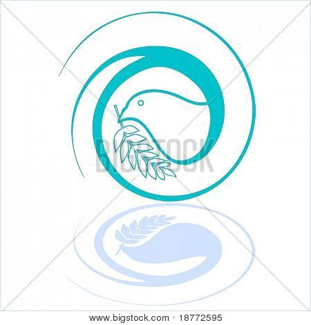 vector illustration of a peace dove