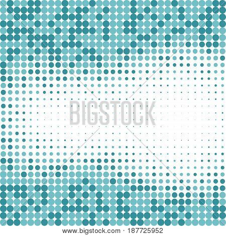 Abstract geometric blue dot background Vector Illustration